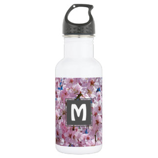 elegant pink cherry blossom tree photograph 532 ml water bottle