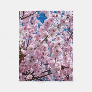 elegant pink cherry blossom tree photograph fleece blanket