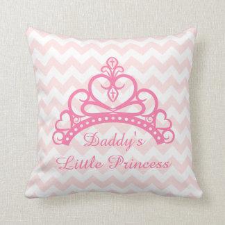 Elegant Pink Chevron, Daddy Little Princess, Tiara Pillows