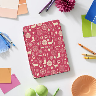 Elegant Pink Christmas Pattern | Ipad Air Case iPad Air Cover