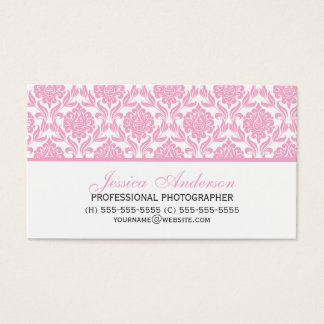 Elegant Pink Damask Pattern