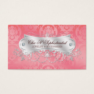 Elegant Pink Damask Swirl