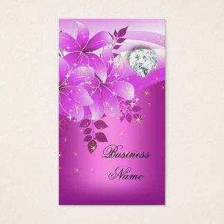 Elegant Pink Floral Diamond
