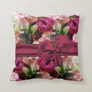 Elegant Pink Floral Pillow