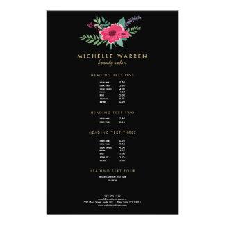 Elegant Pink Floral Salon II Flyer
