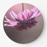 Elegant Pink Flower Wallclocks