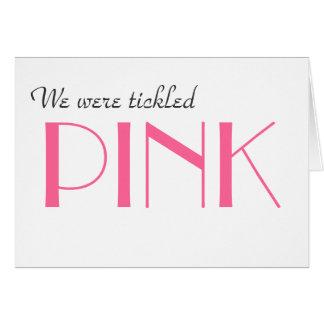 Elegant Pink Gender Reveal Thank You  Card