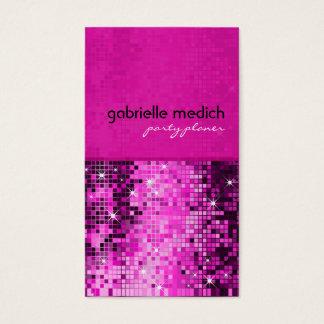 Elegant Pink Glitter Metallic Sequence Pattern
