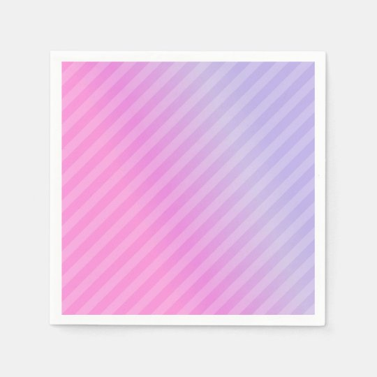 Elegant Pink Lilac Striped Chic Simple Disposable Napkin