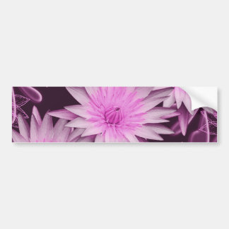 Elegant pink lillies cutomizable bumper stickers