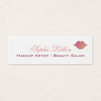 elegant pink lips profile card for makeup artists