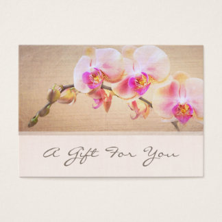 Elegant Pink Orchid Flower Floral Florist Business Card