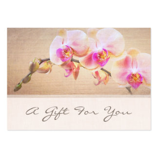 Elegant Pink Orchid Flower Floral Florist Pack Of Chubby Business Cards