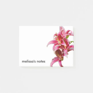 Elegant Pink Oriental Lilies Post-it Notes
