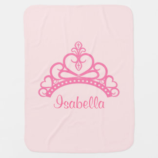 Elegant Pink Princess Tiara, Crown for Baby Girls Baby Blanket