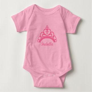 Elegant Pink Princess Tiara, Crown for Baby Girls Baby Bodysuit