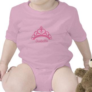Elegant Pink Princess Tiara, Crown for Baby Girls Romper