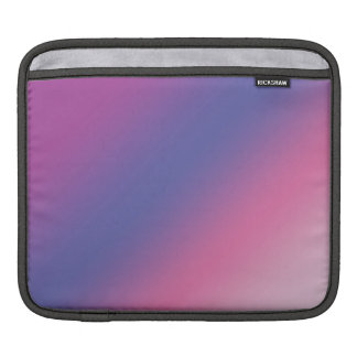 elegant pink purple blue ombre gradient colorful iPad sleeve