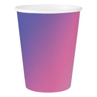 elegant pink purple blue ombre gradient colorful paper cup