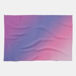 elegant pink purple blue ombre gradient colorful tea towel