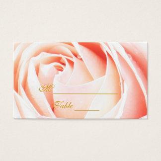 Elegant Pink Rose Placecards Business Card