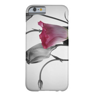 Elegant Pink Rose with Black & White background Barely There iPhone 6 Case