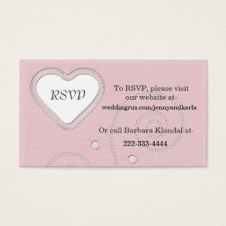Elegant Pink RSVP Card