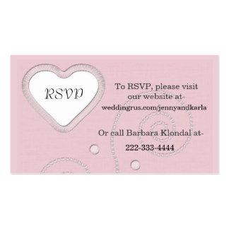 Elegant Pink RSVP Card Pack Of Standard Business Cards