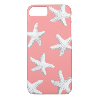 Elegant Pink Sea Stars Starfish iPhone 7 case