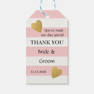 Elegant Pink Striped Wedding Favour