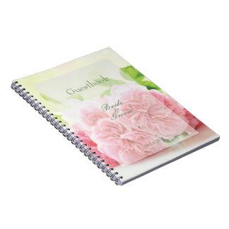Elegant Pink Summer Rose Wedding guest book