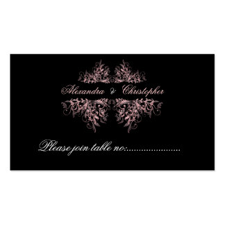 Elegant Pink Swirls Table Place Card Mini Pack Of Standard Business Cards