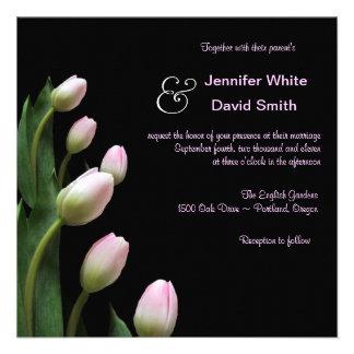 ELegant Pink Tulip Wedding Invitation