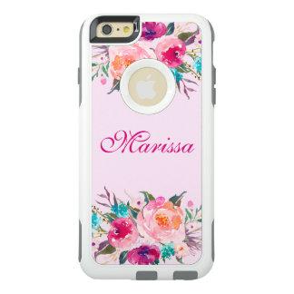 Elegant Pink Watercolor Floral Roses Bouquet OtterBox iPhone 6/6s Plus Case
