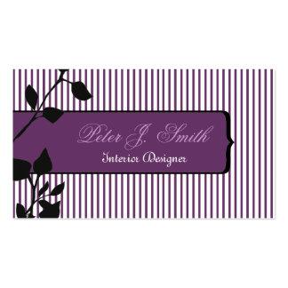 Elegant Pinstripe Original Home Staging Business Card