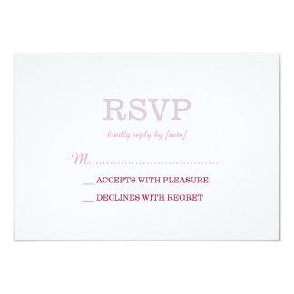 Elegant Plain White Lavender RSVP 9 Cm X 13 Cm Invitation Card