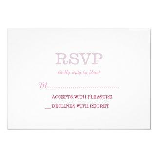Elegant Plain White Lavender RSVP Card