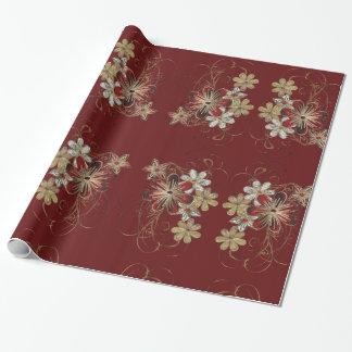 Elegant  Poinsettia Floral Christmas Craft Paper