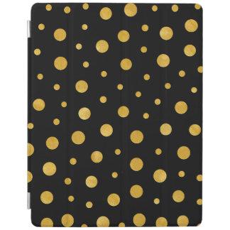 Elegant polka dots - Black Gold iPad Smart Cover