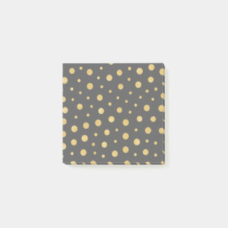 Elegant polka dots - Black Gold Post-it Notes