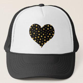 Elegant polka dots - Black Gold Trucker Hat
