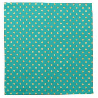 Elegant Polka Dots -Mint & Gold- Napkin
