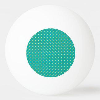 Elegant Polka Dots -Mint & Gold- Ping Pong Ball
