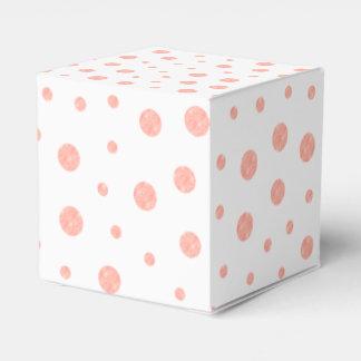 Elegant polka dots - Soft Pink Gold White Favour Box