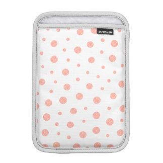 Elegant polka dots - soft Pink Gold White iPad Mini Sleeve
