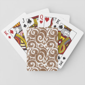 Elegant Pompadour Print Playing Cards