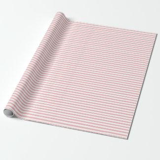 Elegant Powder Pink Stripes Wrapping Paper