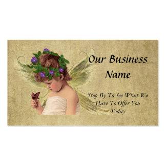 Elegant Precious Angel Girl w/butterfly Business Card