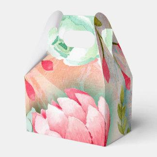 Elegant Pretty Flower Thank You Party Favor Favour Box