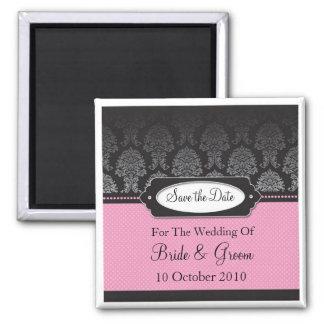 Elegant & Pretty Save the Date Square Magnet